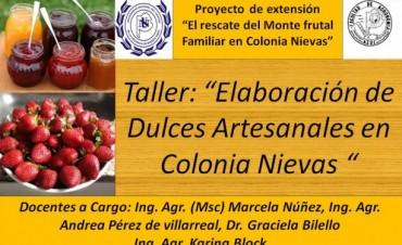 Taller de elaboración de dulces en Colonia Nievas