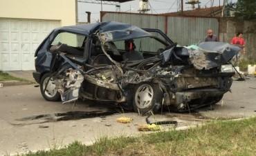 Un herido grave en un importante accidente