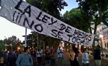 En Olavarría hubo manifestación por la Ley de Medios