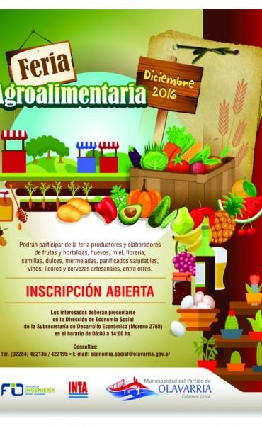 Feria agroalimentaria en Olavarría: continúa abierta la inscripción