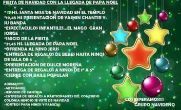 Cnia. Hinojo: Este domingo se realiza la 27° Fiesta de Navidad con Papá Noel