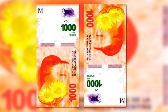 Medidas de seguridad para detectar un billete falso de $1000