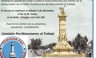 Inauguración de la Piedra Fundamental del Monumento al Trabajo