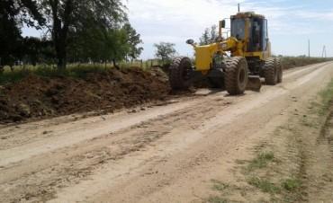 Comenzaron las obras en caminos rurales