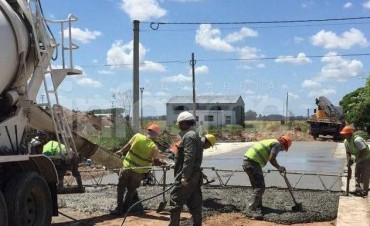 Comenzó la obra de pavimentación en Sierra Chica