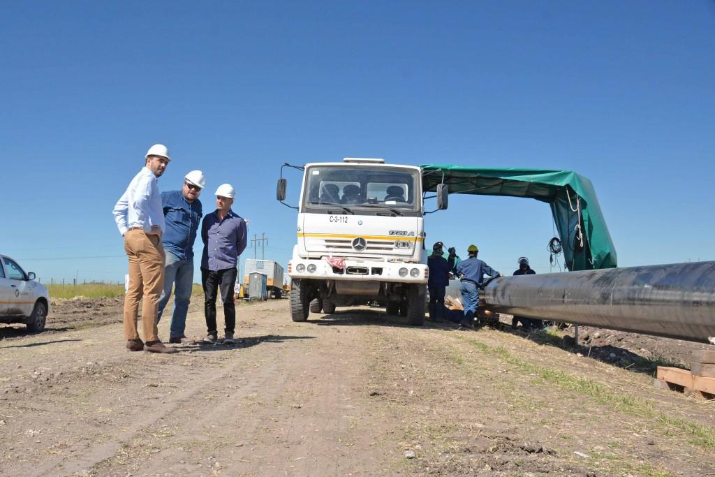 En Olavarría se encuentra en marcha una importante obra de gasoducto