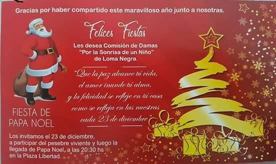 Llega Papá Noel a Loma Negra