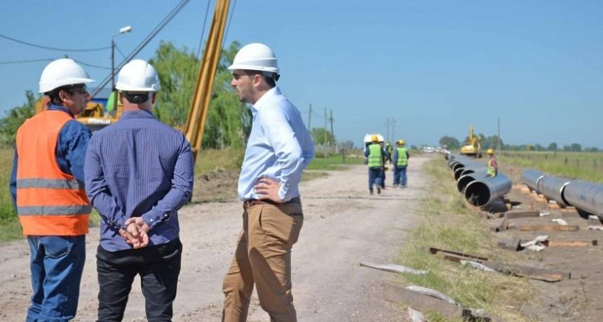Corte de tránsito por la obra del nuevo gasoducto
