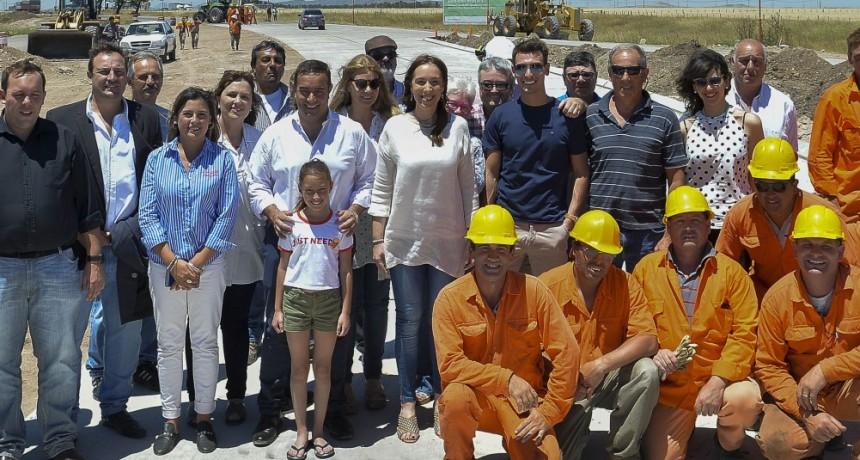 Vidal visitó Bahía Blanca, Puán y Pigüé: 'para nosotros hacer obras es clave'