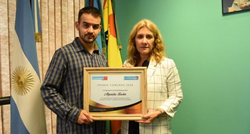 Lordén fue reconocida por Agencia Comunas por su lucha contra la violencia de género