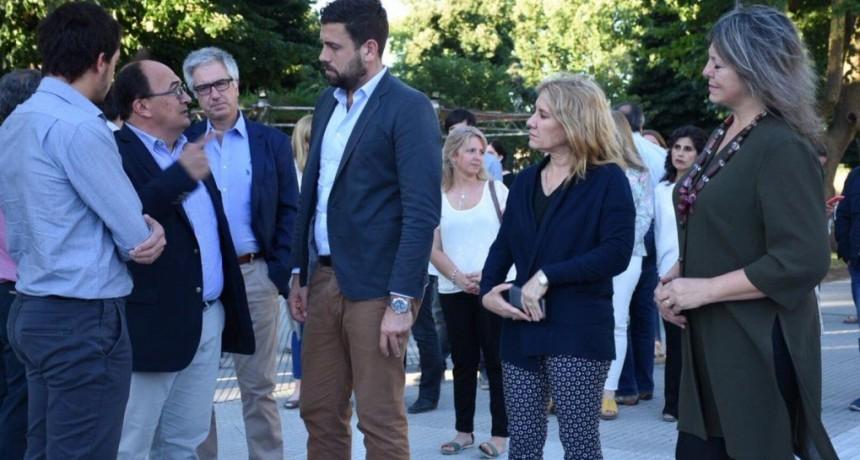 Saladillo: Lordén acompañó a Salomón y Delfino en la presentación de la obras de renovación del Centro Histórico