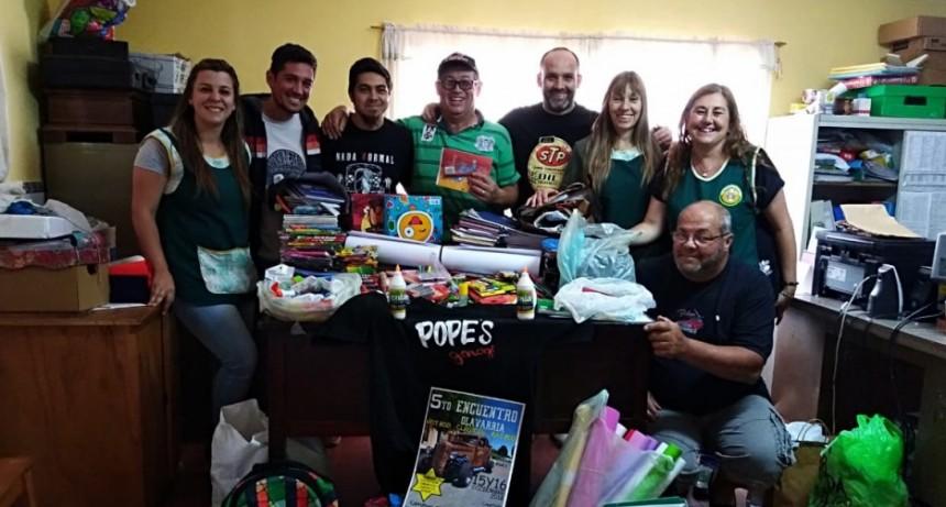 La Agrupación Pope´s Garage realizó la entrega de donaciones