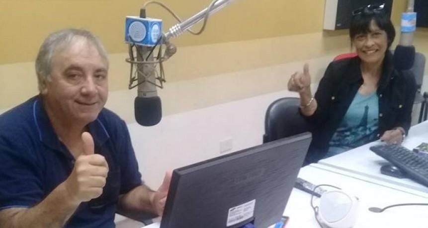 Dulce Morena visitó Radio Olavarría
