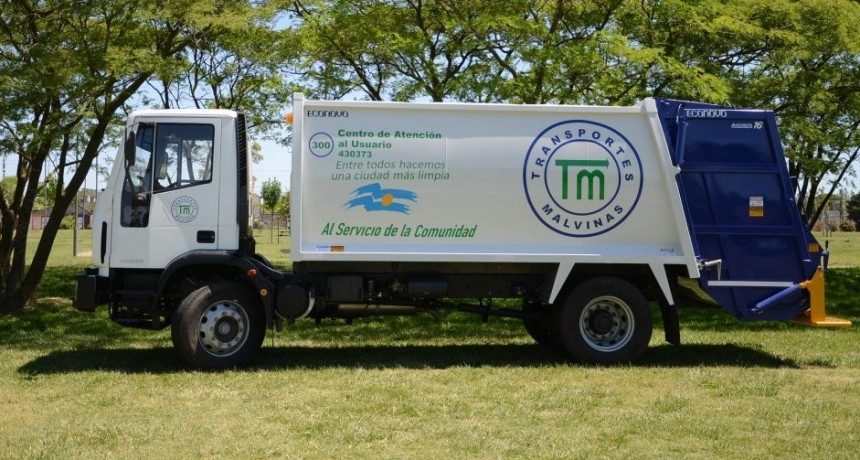 Año Nuevo: servicio de recolección de residuos