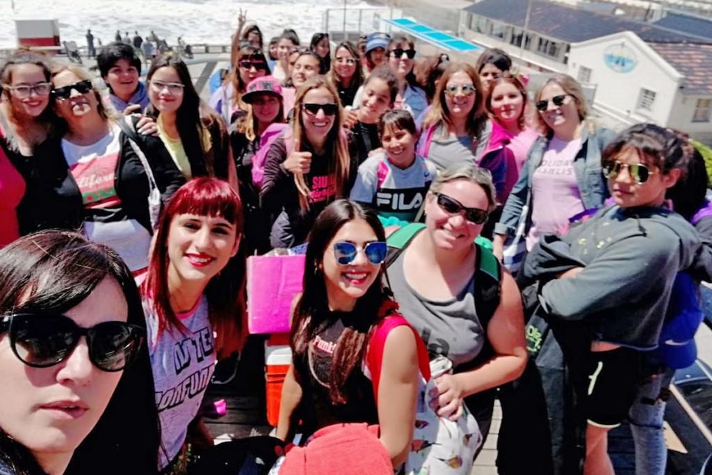 Las chicas de Mujeres Adolescentes viajaron a Mar del Plata