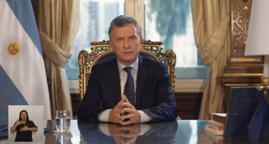 Primera y última Cadena Nacional de Mauricio Macri