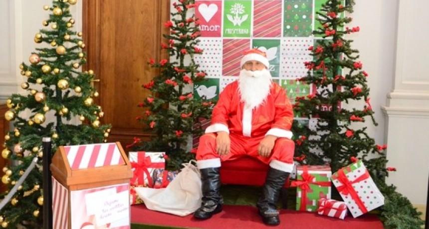 Papá Noel llega a Loma Negra