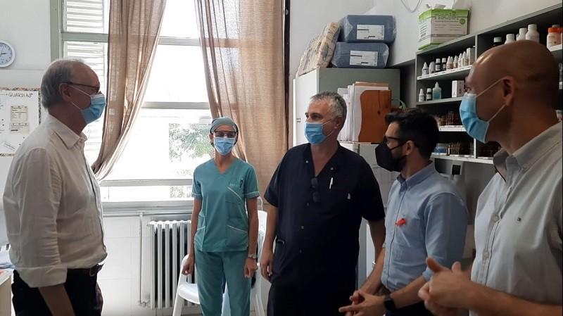 Gollan y Giorgi visitaron los hospitales municipales de Alberti y Chivilcoy