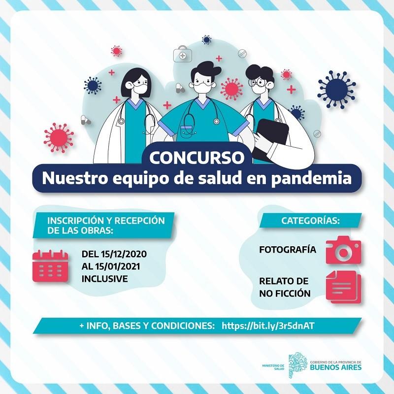 Lanzan concurso de fotografía y relatos de no ficción sobre la pandemia para personal sanitario
