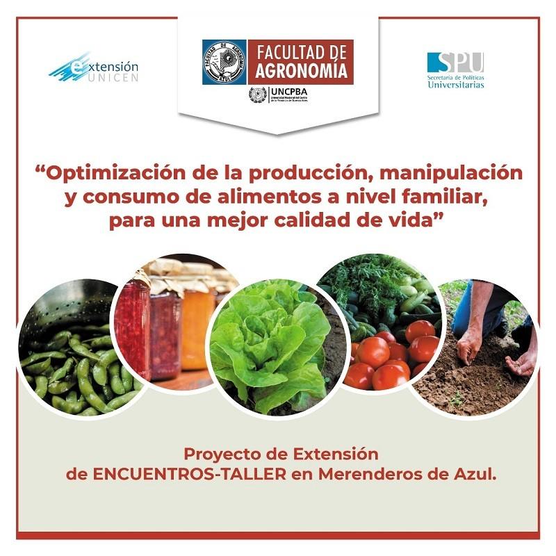 Talleres de capacitación sobre producción, manipulación y consumo de alimentos a nivel familiar