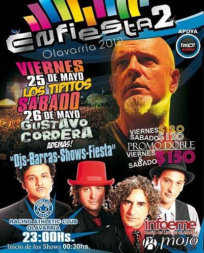 """El espectáculo """"Enfiestado2"""" en Racing"""