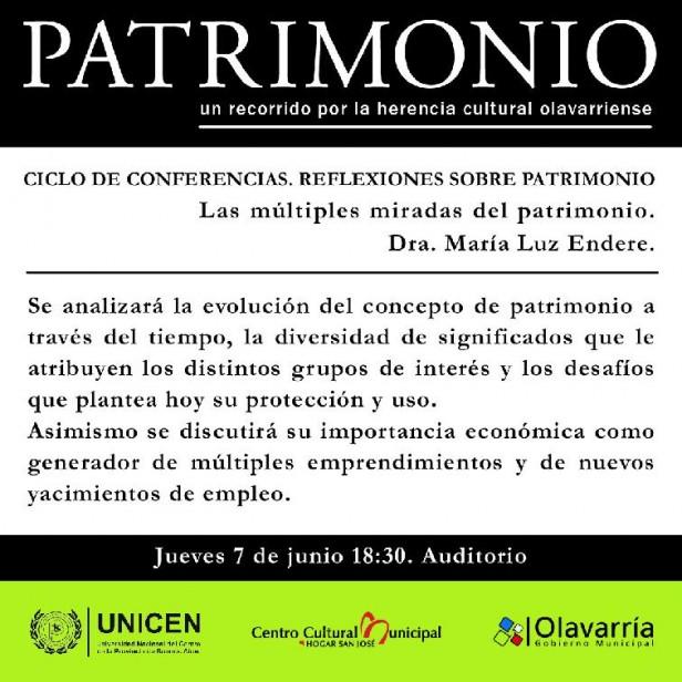 """Ciclo de conferencias: """"Reflexiones sobre patrimonio"""""""