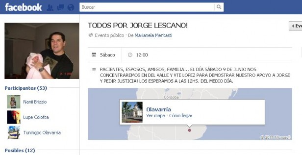 Convocan a marcha por Jorge Lescano