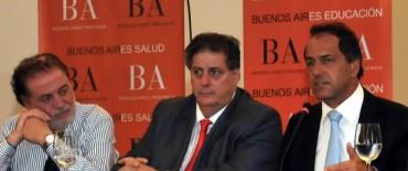 Scioli firmó el proyecto para la promoción de la salud en las Escuelas