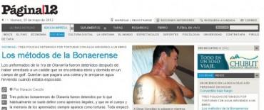 El diario Página 12 informó sobre el caso de torturas en la Primera