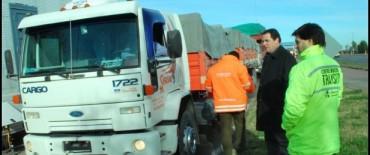 La Dirección Provincial de Política y Seguridad Vial realiza operativos de control de camiones