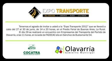 Expo Transporte 2012 por LU 32, con participación municipal