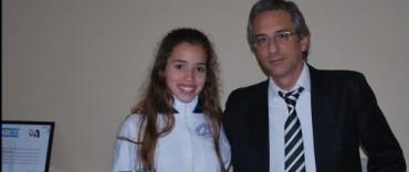 El Intendente Eseverri recibió a la campeona internacional de Patín Artístico Juana Quereilhac