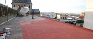 Ayacucho: se terminaron los trabajos de reparación de las azoteas y cubierta del palacio comunal