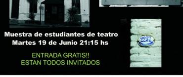 Muestra de estudiantes de teatro