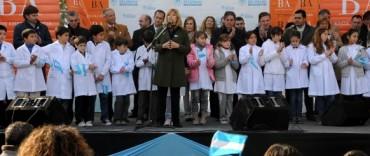 La provincia celebro el Día de la Bandera en General Belgrano