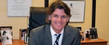 El Vicepresidente del Grupo Banco Provincia, Nicolás Scioli, llega a Olavarría