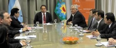 Ayacucho: el intendente Zubiaurre junto al gobernador Daniel Scioli