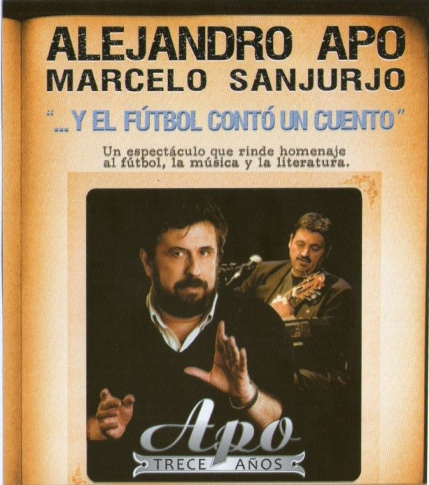 Alejandro Apo se presentará este viernes en Azul