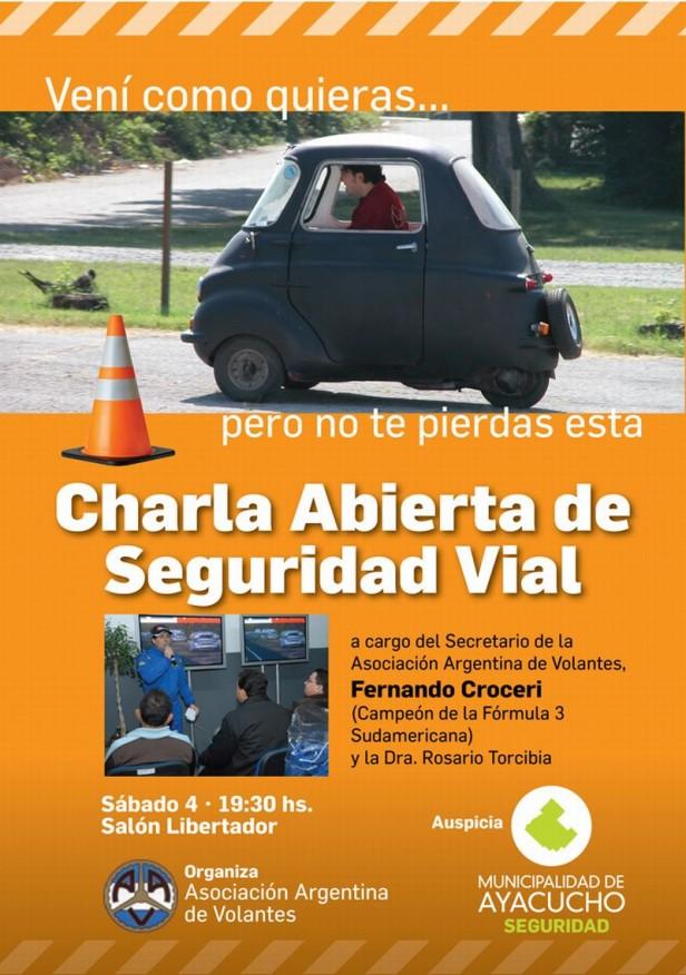 Ayacucho: charla sobre Seguridad Vial