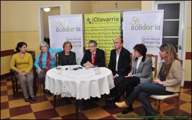 El Intendente Eseverri y la Comisión de Damas Vicentinas anunciaron la Primera Cena Anual Olavarría Solidaria
