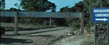 El Gobierno Municipal instala limitadores de altura en Sierra Chica y en el puente de la Avenida Sarmiento