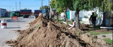 Liberación al servicio público de red de agua corriente en distintos puntos de la ciudad