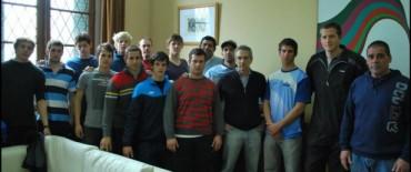 El Intendente Eseverri recibió a la categoría juvenil de la Selección Argentina de canotaje