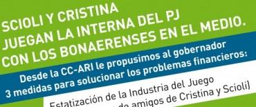 Legisladores de Coalición Cívica –ARI difunden sus propuestas para resolver la situación financiera de la provincia