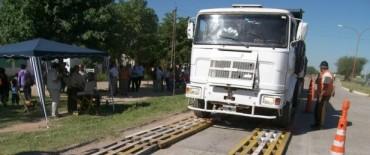 Operativos sorpresa para controlar el peso de carga