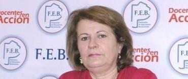 La titular de la FEB Mirta Petrocini está en Olavarría