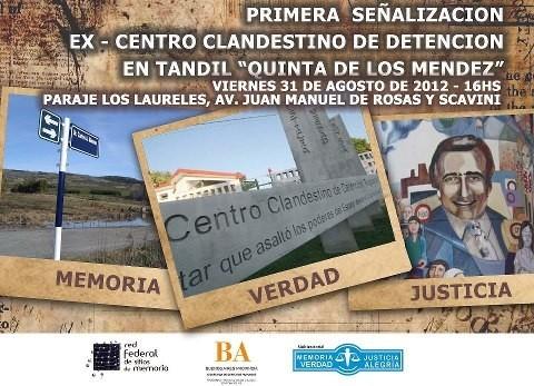 """Señalización de la """"Quinta de los Méndez"""" en Tandil"""