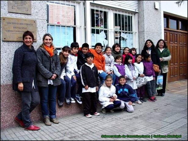 Los chicos de las Escuela Nº 59 visitaron el Archivo Histórico Municipal