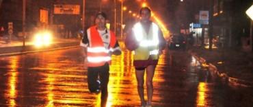 Postas Sanmartinianas: los atletas partieron bajo la lluvia