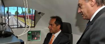 Scioli puso en marcha el primer simulador de conducción ferroviaria de Latinoamérica